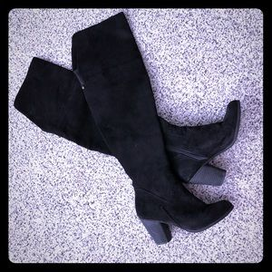 Melrose and Market Faux Suede Over The Knee Boots